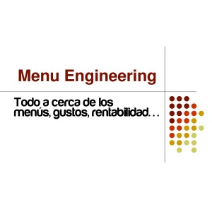 curso online menu engineering